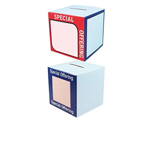 UPC 852664653593, Special Offering Donations Box, Church or Charities Cardboard Pkg of 50