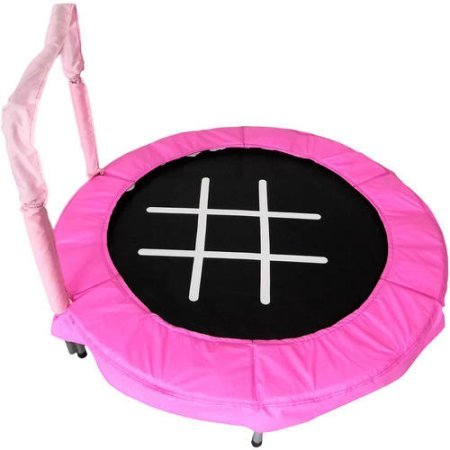 (Trampoline 4' Bouncer for Kids by Jumpking (Pink/Chalk) )