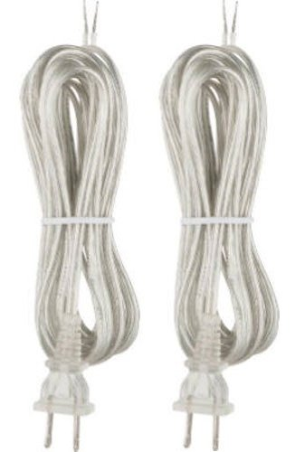 - Westinghouse 7009800 Pack of 2 SPT-2 Cord Sets 8-Feet; Silver