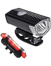 1PC Fietsverlichting LED Fiets Voor Hoofd Licht + Tail Light Set MTB Fiets Achterlichten Fietslamp Zaklamp Fietsaccessoires