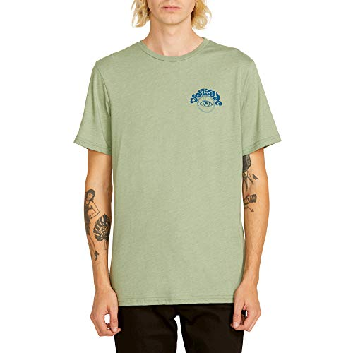Volcom Men's Sunshine Eye Short Sleeve Tee, Dusty Green, Large
