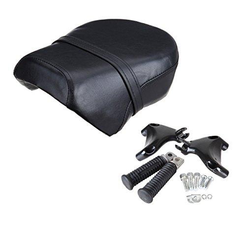 Sange Rear Passenger Seat Pillion + Foot Pegs for Harley Davidsion Sportster XL 883L 883C 883N 1200N 1200 Nightster 2007-2013