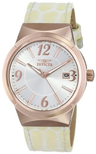 Invicta Women's 15411 Angel Analog Display Japanese Quartz Beige Watch
