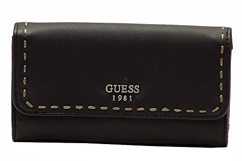Guess Women's Juliana Black Slim Clutch Tri-Fold ()