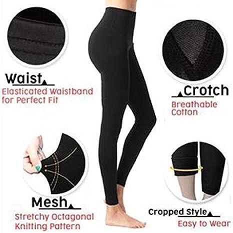 Shaped Slimming Pants,VPASS Sculpting Sleep Leg Shaper Pants Legging Socks Women Legging Socks Body Shaper Pants (L) Black