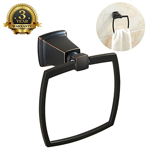 Ring Towel Hanger Stainless Steel Bathroom Towel Ring Rack Wall Mount Kitchen Lavatory Towel Holder Bath Hardware Modern Design Oil Rubbed Bronze MARMOLUX ACC