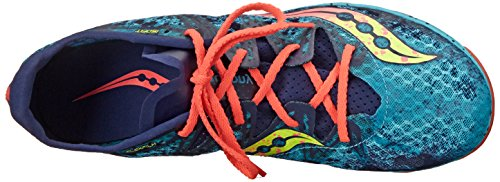 Saucony Womens Carrera XC Cross-Country Shoe Blue/Vizi Coral