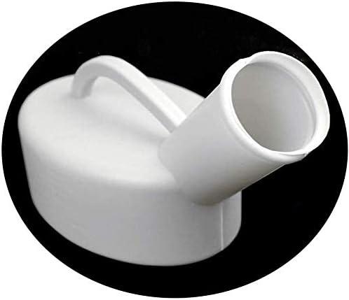 便器 ホワイトキャリング屋内病院ドライバを使用するハンドル用便器メンズプラスチック小便器800ミリリットルの容量 ユニセックス便器
