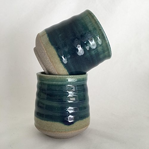 Green Tea Cup Set, Handmade Ceramic Tea Cup, Yunomi 8 oz. GRJUNTC3