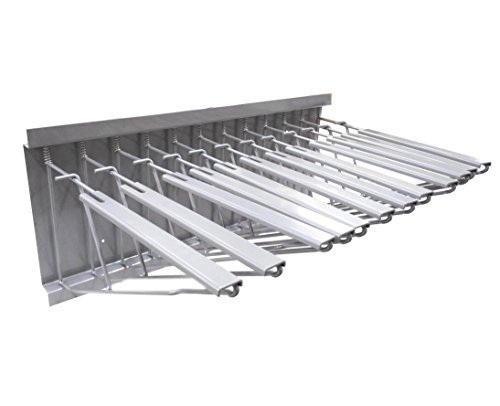 FixtureDisplays Silver Pivot Wall Rack with Hangers for Blueprints, Plans, Drawing ()