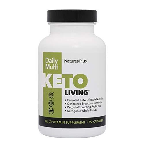 KetoLiving by NaturesPlus Keto Vitamins for Men and Women, 90 Capsules