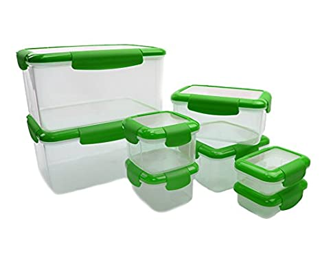 Amazoncom 16 Piece Food Storage Container with Leakproof Lids