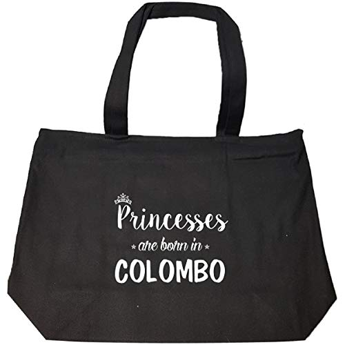Colombo Zip - Princesses Are Born In Colombo Cool Gift - Tote Bag With Zip