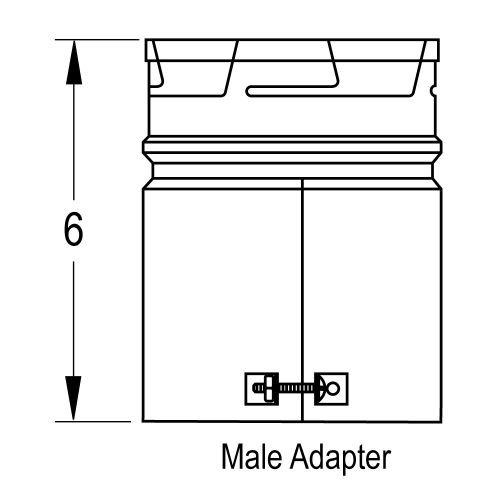265106 6'' Universal Male Adapter B-Vent