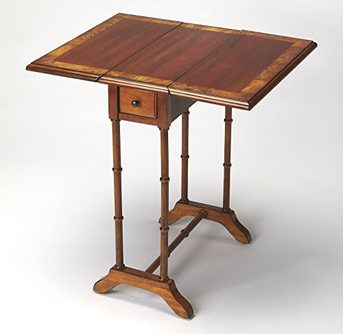 Accent Furniture - Mayfair Drop Leaf Table - Accent Table - Olive Ash Burl Finish