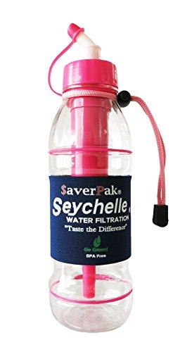 $averPak Celibate - Includes 1 $averPak Seychelle 20oz Sport Water Bottle with the ALKALINE pH2O Water Enhancing Filter (Pink)