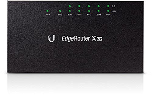 Ubiquiti EdgeRouter X SFP ER-X-SFP 5x Gigabit LAN Ports 1 x SFP Port 1 x POE-IN