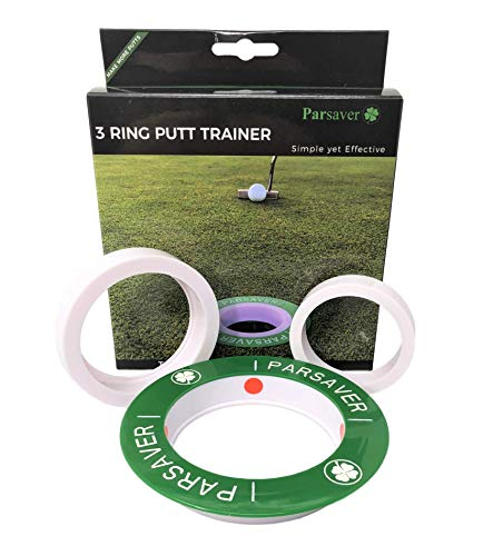 Players 3-Ring Visual Putt Trainer - A True Pressure Putt Trainer - Golf Hole Reducer - A Must Have Golf Putting Aid - Golf Trainer - Golf Gift for Men - Women and Golfers of All Levels.