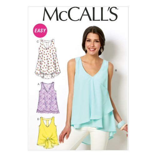 (McCall Pattern Company M6960 Misses' Tops and Tunics, Size ZZ