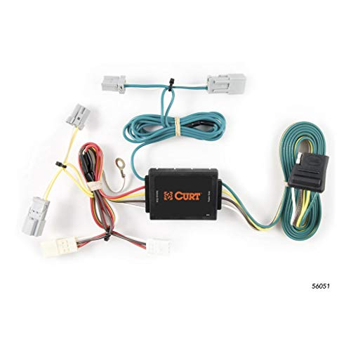 CURT 56051 Vehicle-Side Custom 4-Pin Trailer Wiring Harness for Select Honda Civic