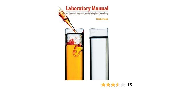 Amazon Com General Organic And Biological Chemistry 9780805349047 Timberlake Karen C Books