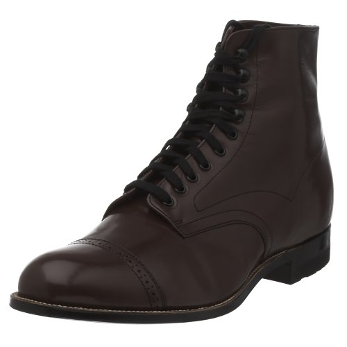 Stacy Adams Mens Madison Cap Toe Boot Brown Kid