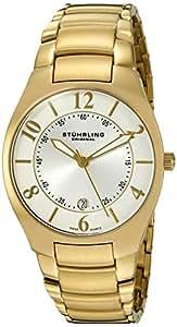 "Stuhrling Original Men's 112G.33332 ""Classic Ascot Regalia"" 23k Gold-Layered Watch"