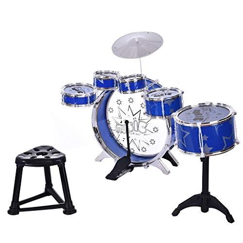 happyYE Children's Drum Kit, 12pcs Children's Jazz Drum Set Kids Baby Roll Drum Musical Instruments Band Kit Children Toy Creativity Children's Advanced Beginner Kit