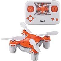 Dwi Dowellin Mini Drone RTF Remote Control drone 360° Flip Nano Pocket Mini Quadcopter X1 Orange