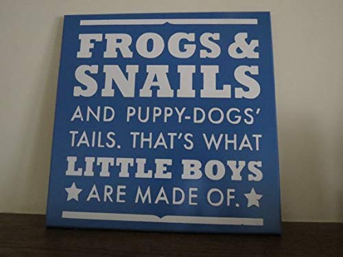 MosesMat41 Nursery Decor Frogs Snails Puppy Dogs Tails Boy Child Nursery Birthday Cabin Wall Decor Plaques Sign Home Sign (Wall Puppy Plaque Dog)