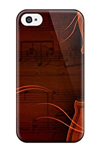 New Style Special Design Back Beautiful Violin Phone Case Cover For Iphone 4/4s