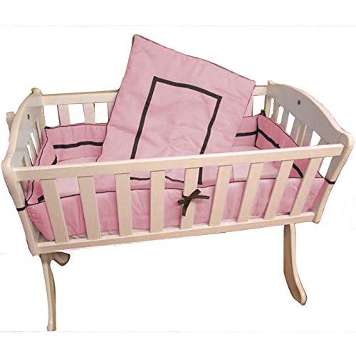 Babykidsbargains Friendship Cradle Bedding, Pink, 15'' x 33''
