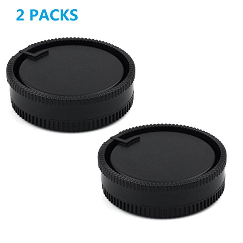 (LXH 2 PACK Front Body Cap And Rear Lens Cap Set For Sony Alpha A-Mount/Minolta AF Mount Lenses,For Sony A500/A550/A560/A580/A700/A850/A900/A100/A200/A230/A290/A300/A330/A350/A380/Minolta 5D)