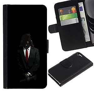 // PHONE CASE GIFT // Moda Estuche Funda de Cuero Billetera Tarjeta de crédito dinero bolsa Cubierta de proteccion Caso Apple Iphone 5 / 5S / Darth Anonymous Rebel Lord /