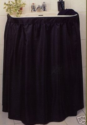 Sink Skirt - Fabric Print 100% Polyester Sink Skirt Black Diamond