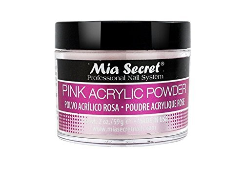 Mia Secret Professional Acrylic Nail System Pink Acrylic Powder 2 OZ
