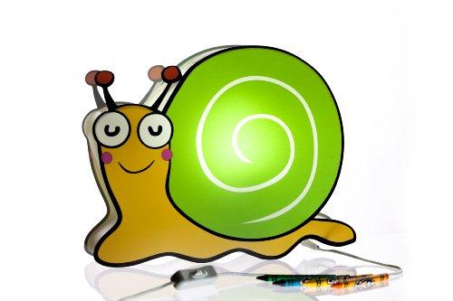 Snail Rocker (Nursery Lamp & Kid's Room Lamp - Colorful LED Decorative Lamp - Snail Design)