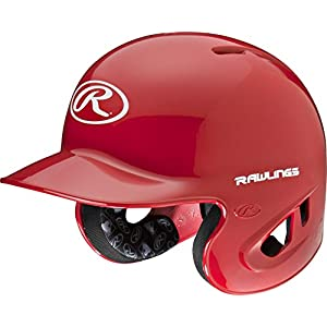 Rawlings 90 MPH College/High School Batting Helmet, Scarlet, X-Large