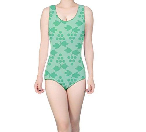 LuxSweet Women's Geometric Grapes Simple Pattern Fashion Sport One Piece Athletic Bathing Suit Swimsuit Swimwear (Grapes 123)