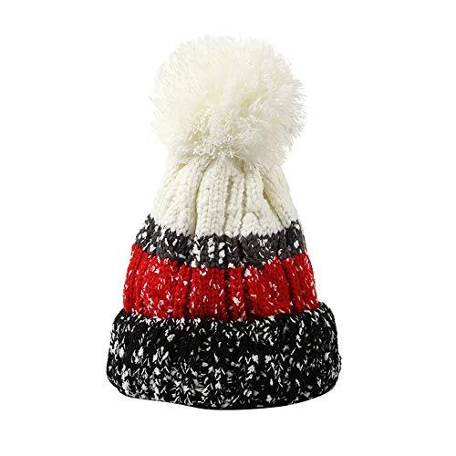 Crochet Hat, Women Winter Cute Knit Hat - Fashion Beanie Hairball Warm Cap,Wonderful Gifts (Multicolor -3)