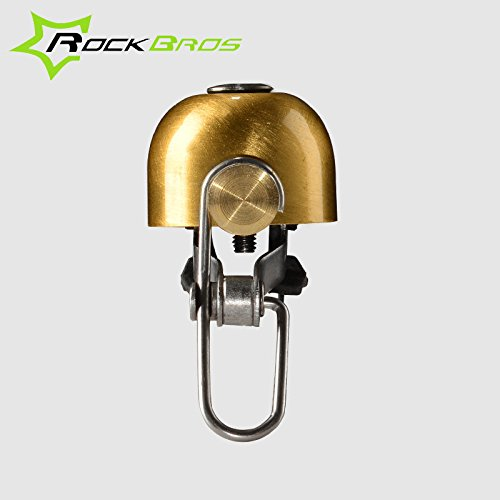 ROCKBROS Vintage Bicycle Bell Stainless Bell Bike Cycling Horns Handlebar Bell ( Black ) by Freelance Shop SportingGoods (Image #2)