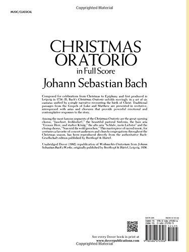 Christmas Oratorio in Full Score (Dover Music Scores)