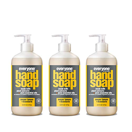 Everyone Hand Soap, Meyer Lemon and Mandarin, 12.75 Ounce, 3 Count (Sugar Foam Shower)