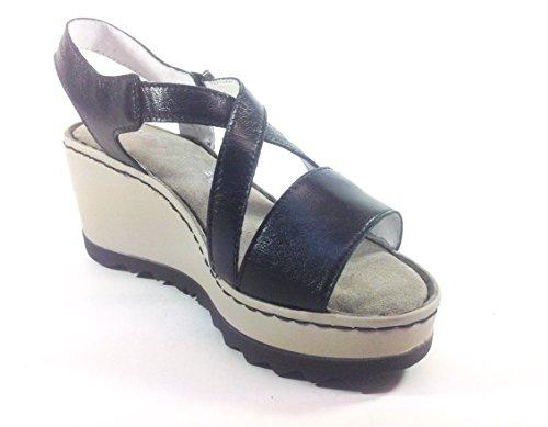 Zen - Sandalias de vestir de Piel para mujer Varios Colores multicolor 35 negro