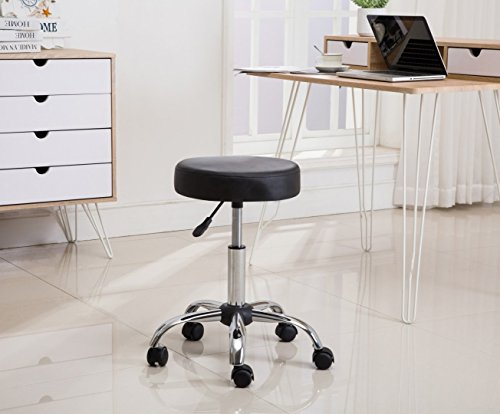 Porthos Home Blair Task Stool, Black by Porthos Home