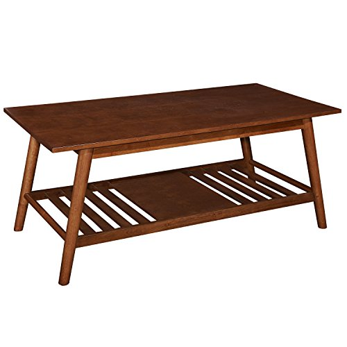 Linon Charlotte Coffee Table in Brown (In Charlotte Furniture Nc)