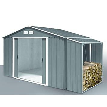 Gartenhaus Mit Unterstand gartenhaus metall duramax titan 3 21 x 2 42 m unterstand metall