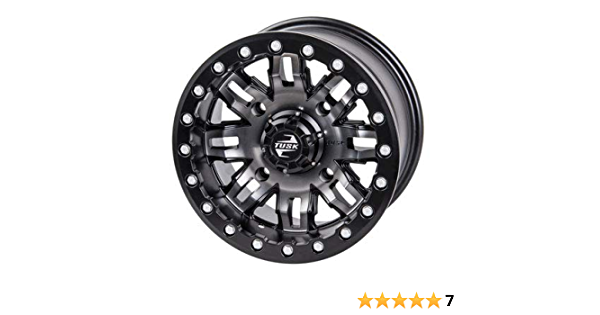 3.0 Machined//Black for Polaris RANGER 900 XP 2013-2018 4//156 Tusk Cascade Wheel 14x7 4.0
