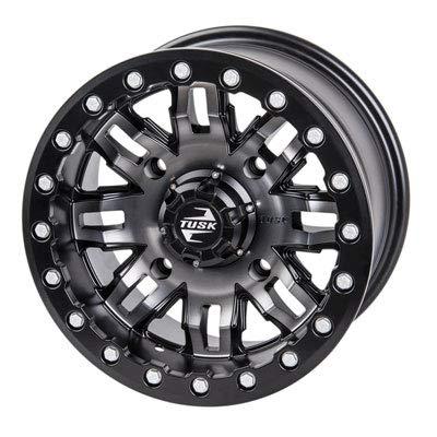 4/156 XP1000 Teton Beadlock Wheel 14x7 6.0 + 1.0 Gun Metal/Black for Polaris RANGER RZR RS1 2018-2020