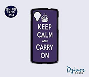 Nexus 5 Case - Keep Calm Carry On Purple iPhone Cover